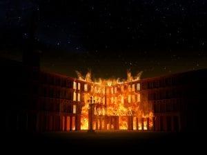 Reproducción de un incendio de la Plaza Mayor de Madrid | Vídeo-mapping 360 | Proyección 17, 18 y 19/02/2017 abriendo programación 4º Centenario de la Plaza Mayor de Madrid
