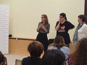 Espacio de Encuentro Feminista   Ribera de Curtidores   El Rastro   Distrito Centro   Madrid   Pamela Palenciano en la inauguración