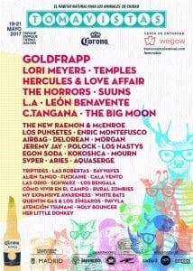 Festival Tomavistas 2017 | Parque Enrique Tierno Galván | Arganzuela - Madrid | 19 al 21/05/2017 | Cartel