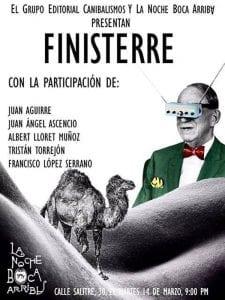 Finisterre   Grupo Editorial Canibalismos   La Noche Boca Arriba   Lavapiés - Madrid   14/03/2017   Cartel