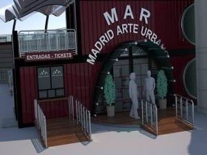 MAR - Madrid Arte uRbano | Proyecto Museo de Arte Urbano | Distrito Puente de Vallecas | Madrid | Maqueta entrada