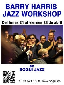 Programación | Conciertos Bogui Jazz | Abril 2017 | Chueca - Centro - Madrid | Barry Harris Jazz Workshop in Madrid