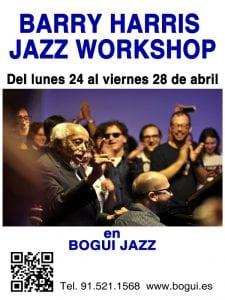Programación   Conciertos Bogui Jazz   Abril 2017   Chueca - Centro - Madrid   Barry Harris Jazz Workshop in Madrid