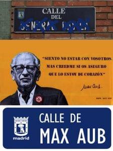52 nombres franquistas que desaparecen del callejero madrileño | Calle de Max Aub