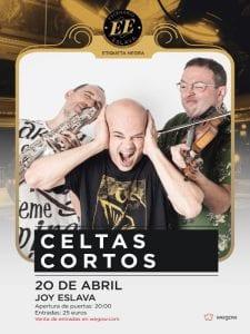 Celtas Cortos   Concierto Eiqueta Negra   Escenario Eslava   Sala Joy Eslava   Madrid   20 abril 2017   Cartel