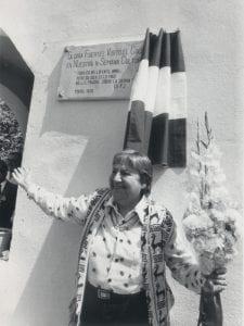 Gloria Fuertes | Madrid, 1917-1998 | Centenario Gloria Fuertes | Gloria Fuertes inaugura una placa en colegio