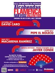4º Certamen de Cante, Baile y Guitarra 'Alcobendas Flamenca Nuevos Talentos' | Gala de entrega de premios | 26/05/2017 | Alcobendas | Comunidad de Madrid | Cartel