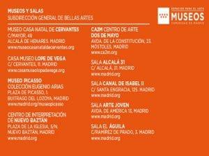 Día y Noche de los Museos 2017 | Comunidad de Madrid | Espacios para el Arte | Museos Comunidad de Madrid