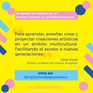 Madrid Arte uRbano y Creación Centro Cultural 2.0 pasan a la fase de apoyos | Yo apoyo la creación de un Centro Cultural 2.0 en Madrid... | Omar Flores