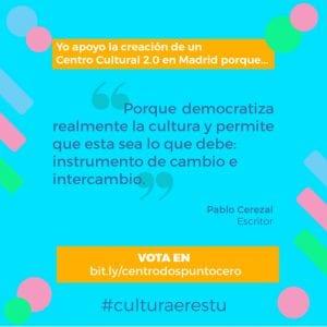 Madrid Arte uRbano y Creación Centro Cultural 2.0 pasan a la fase de apoyos | Yo apoyo la creación de un Centro Cultural 2.0 en Madrid... | Pablo Cerezal