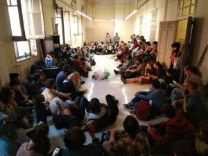 Okupación de un edificio en la calle Gobernador | Cortes - Centro - Madrid | 06/05/2017 | Asamblea