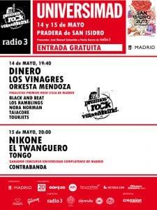 Universimad 39 Premios Rock Villa de Madrid | San Isidro 2017 | Pradera de San Isidro | Carabanchel - Madrid | 14-15/05/2017 | Cartel