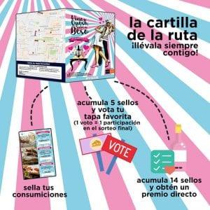 1ª Ruta Vino y Queso Sabe a Beso | Tetuán - Madrid | 01/06 al 02/07/2017 | La cartilla de la ruta ¡llévala siempre contigo!