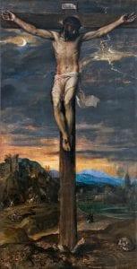 'El Renacimiento en Venecia' | Museo Thyssen-Bornemisza | 'Cristo crucificado' | h. 1565 | Tiziano (Tiziano Vecellio) | Madrid | Monasterio de San Lorenzo del Escorial