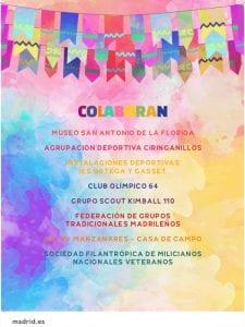 Fiestas de San Antonio de la Florida 2017 | Parque de la Bombilla | Moncloa-Aravaca | Madrid | 09 al 13/06/2017 | Colaboradores