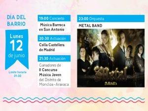 Fiestas de San Antonio de la Florida 2017 | Parque de la Bombilla | Moncloa-Aravaca | Madrid | 09 al 13/06/2017 | Programa lunes 12 de junio | Día del Barrio