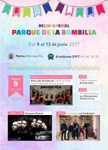 Fiestas de San Antonio de la Florida 2017 | Parque de la Bombilla | Moncloa-Aravaca | Madrid | 09 al 13/06/2017 | Programa viernes 9 de junio