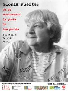 Gloria Fuertes en su centenario: la poeta de los poetas | Cursos de Verano del Escorial | Universidad Complutense de Madrid | 17-21/07/2017 | Cartel