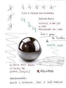 Presentación 'Luz a pesar de sombra' de Eduardo Bravo | La Noche Boca Arriba | Lavapiés - Madrid | 14/06/2017 | Cartel