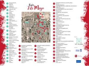 Ruta 2 de Mayo | A.C. Vive Malasaña | Barrio de Malasaña | Madrid | Verano 2017 | Plano recorrido