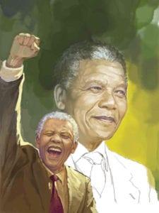 Día de Nelson Mandela | 18 de julio | 67 minutos para ayudar a los demás | Graffiti de Nelson Mandela