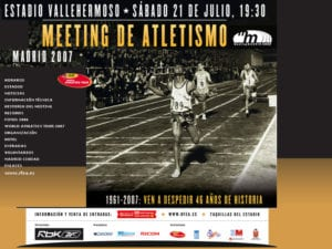 Estadio de Atletismo de Vallehermoso | Chamberí | Madrid | Cartel despedida | 21/07/2007