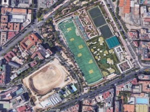 Estadio de Atletismo de Vallehermoso | Chamberí | Madrid | Vista satélite Google Maps | 13/07/2017