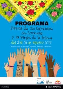 Fiestas de San Cayetano, San Lorenzo y La Paloma 2017 | 02-15/08/2017 | Centro | Madrid | Cartel programa
