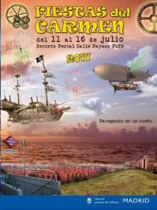 Fiestas del Carmen 2017 en Puente de Vallecas | 11 - 16/07/2017 | Madrid | Cartel