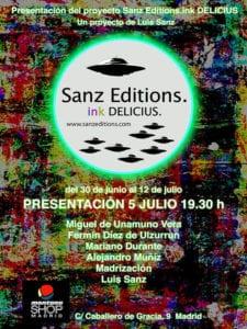 ink DELICIUS Sanz Editions | Exposición Colectiva | Montana Shop Madrid | 05 - 12/07/2017 | Cartel