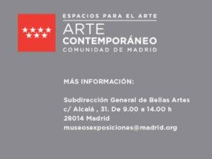 Convocatoria ayudas creación artes visuales Comunidad de Madrid 2017 | Espacios para el Arte | Arte contemporáneo | Comunidad de Madrid