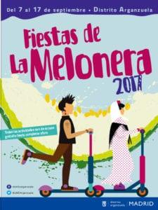 Fiestas de La Melonera 2017   Arganzuela   Madrid   07-17/09/2017   Cartel