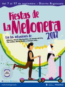 Fiestas de La Melonera 2017   Arganzuela   Madrid   07-17/09/2017   Cartel conciertos