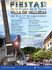 Fiestas de la Virgen de la Torre 2017 | Villa de Vallecas | Madrid | 08-17/09/2017 | Cartel programación destacada