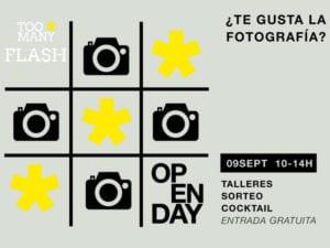 Open Day Too Many Flash | 09/09/2017 | ¿Te gusta la fotografía?