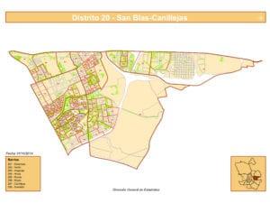 Plano 8 barrios de San Blas-Canillejas | Madrid | Fuent DGE Ayuntamiento de Madrid
