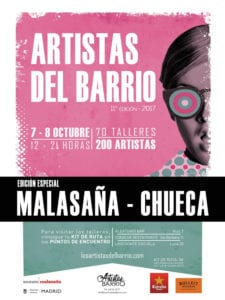 11ª Los Artistas del Barrio en Malasaña y Chueca | 07 y 08/10/2017 | Madrid | Cartel