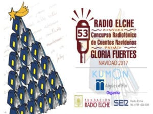 53º Concurso de Cuentos Navideños Premio Gloria Fuertes   Radio Elche   Cadena SER   Fundación Radio Elche   Navidad 2017-2018   Cartel