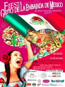 Fiesta Grito de la Embajada de México 2017 | Chamartín | Madrid | 15-17/09/2017 | Cartel