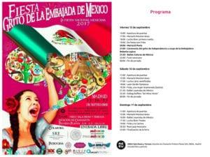 Fiesta Grito de la Embajada de México 2017 | Chamartín | Madrid | 15-17/09/2017 | Programa