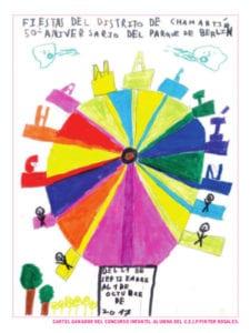 Fiestas del Distrito de Chamartín 2017 | 50º Aniversario del Parque de Berlín | 21/09 - 01/10 | Chamartín | Madrid | Cartel ganador concurso infantil alumna CEIP Pintor Rosales