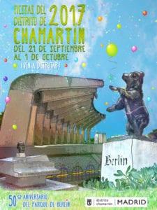 Fiestas del Distrito de Chamartín 2017 | 50º Aniversario del Parque de Berlín | 21/09 - 01/10 | Chamartín | Madrid | Cartel ganador concurso adultos Juan Vidal