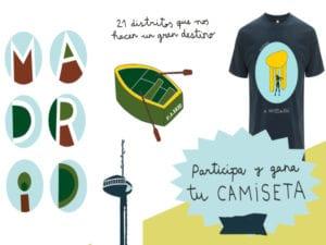 Madrid, 21 distritos que nos hacen un gran destino | Ayuntamiento de Madrid | Área de Turismo de Madrid Destino | Sorteo camiseta