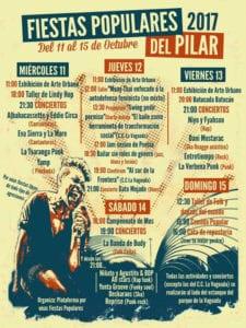 Fiestas del Barrio del Pilar 2017 | Fuencarral-El Pardo | Madrid | 11-15/10/2017 | Cartel programa