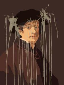 Lección de arte | Museo Nacional Thyssen-Bornemisza | Madrid | 07/11/2017-28/01/2018 | Autorretrato con gorro y cadena de oro (2016) | Kota Ezawa | Foto cortesía del artista y Galería Christopher Grimes