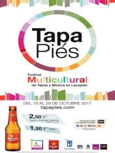 Tapapiés 2017 | 7ª Ruta Multicultural Tapas y Música en Lavapiés | 19 al 29/10/2017 | Lavapiés | Madrid | Cartel