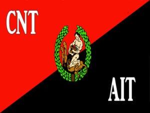 A las barricadas | En los 107 años de la Confederación Nacional del Trabajo | Bandera CNT-AIT