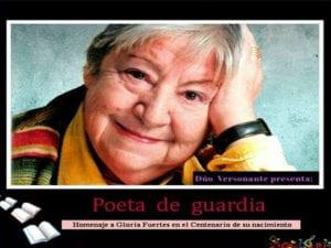 Dúo Versonante pasea la obra de Gloria Fuertes en concierto | 'Poeta de Guardia. Homenaje a Gloria Fuertes' | Cartel
