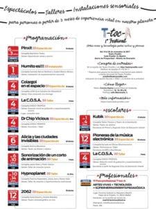 T-toc-A | 1er Festival artes vivas y tecnología para niños y jóvenes | 19-26/11/2017 | Teatro Pradillo | Chamartín | Madrid | Programación