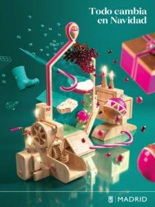 Programación Madrid en Navidad 2017-2018 | 'Todo cambia en Navidad' | Ayuntamiento de Madrid | Cartel